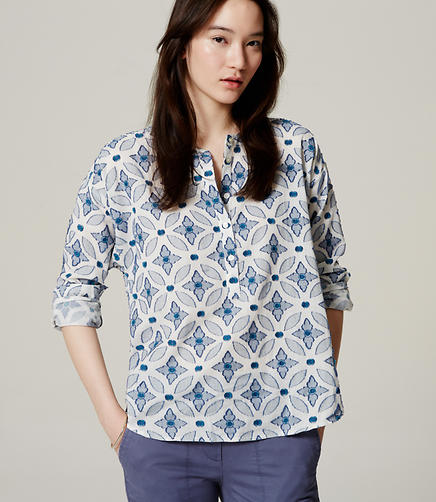 Image of Petite Mosaic Softened Shirt