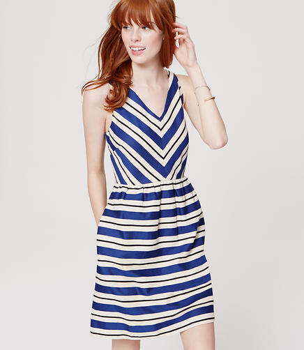 Image of Striped Flare Dress