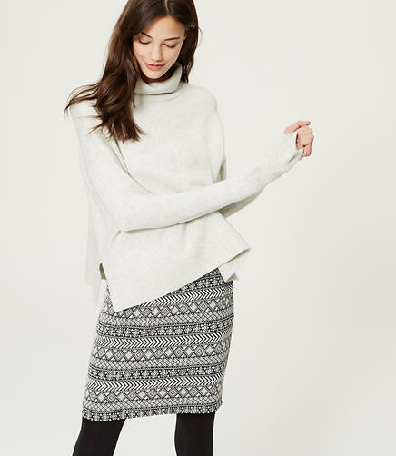 Image of Geo Stripe Pull On Skirt