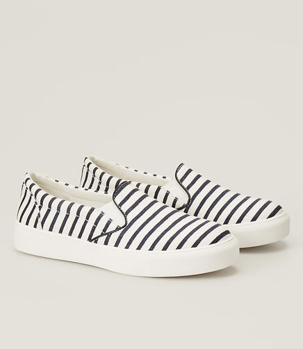 Image of Striped Slip On Sneakers