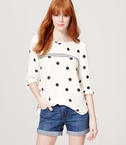 Image of Petite Spot On Blouse