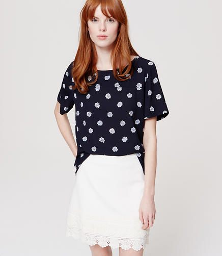 Image of Blossom Drapey Hi-Lo Top