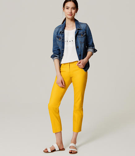 Image of Petite Basketweave Riviera Cropped Pants in Marisa Fit