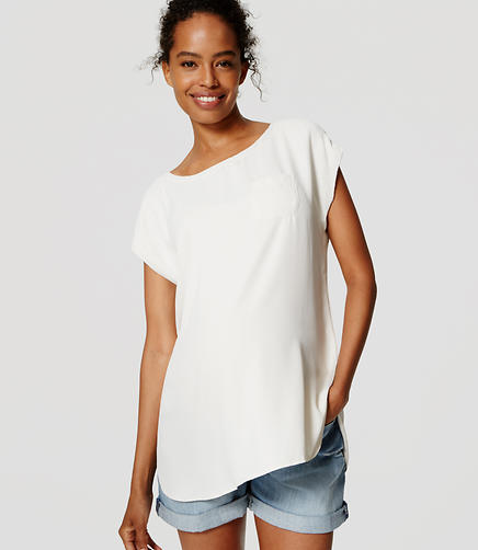 Image of Maternity Drapey Pocket Tee