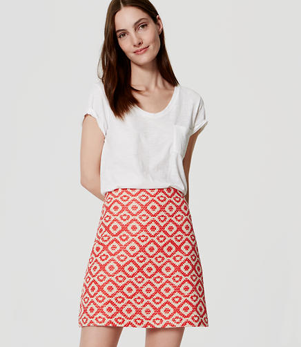 Image of Geo Jacquard Shift Skirt