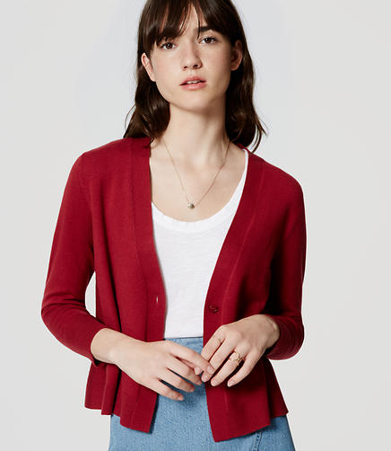 Image of Flounce Back Cardigan