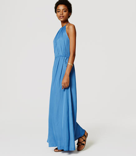 Image of Tasseled Halter Maxi Dress