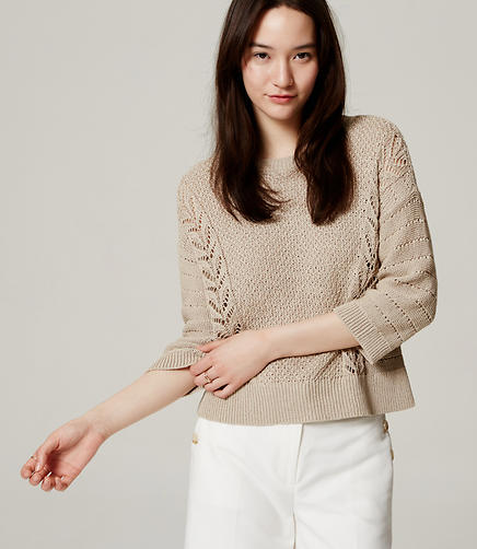 Image of Mixed Pointelle Sweater