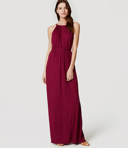 Image of LOFT Beach Strappy Back Maxi Dress