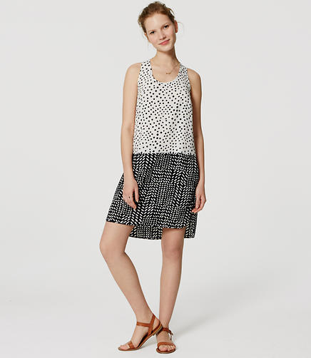 Image of Dot Dash Racerback Dress