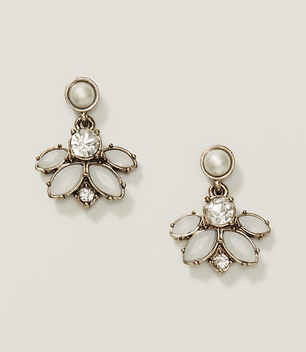 Image of Cast Crystal Chandelier Earrings