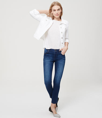 Image of Modern Sateen Skinny Jeans in Mid Stone Wash