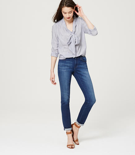 Image of Curvy Sateen Skinny Jeans in Mid Stone Wash
