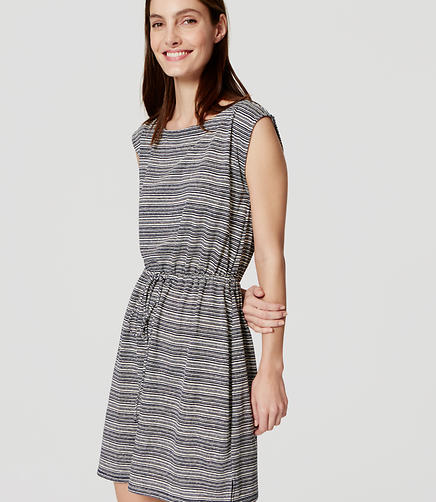Image of Striped Drawstring Dress