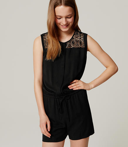 Image of Circle Lace Romper
