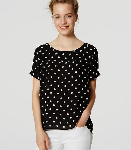 Image of Spotted Drapey Hi-Lo Top