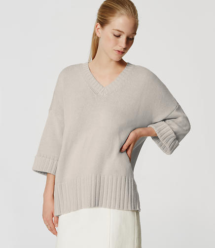 Image of Cuffed Ribtrim Sweater