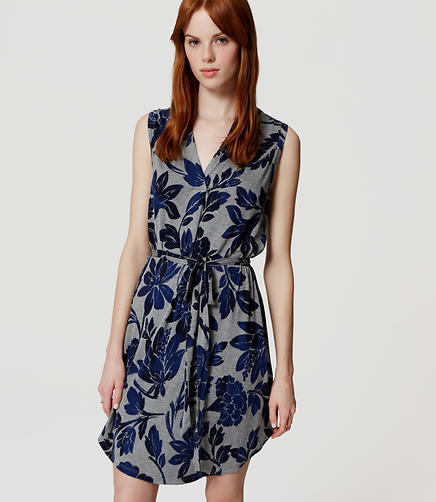 Image of Vineyard Dusk Sleeveless Shirtdress