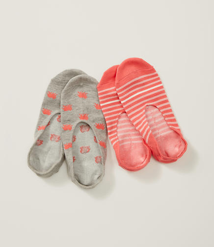 Image of Elephant and Stripe No Show Sock Set