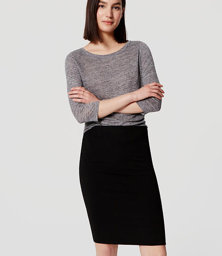 Image of Pull On Pencil Skirt