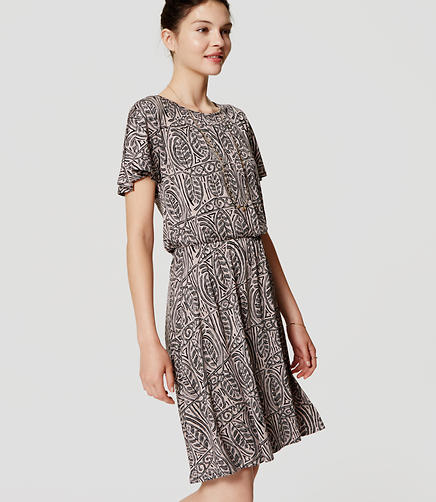 Image of Leafy Flare Dress