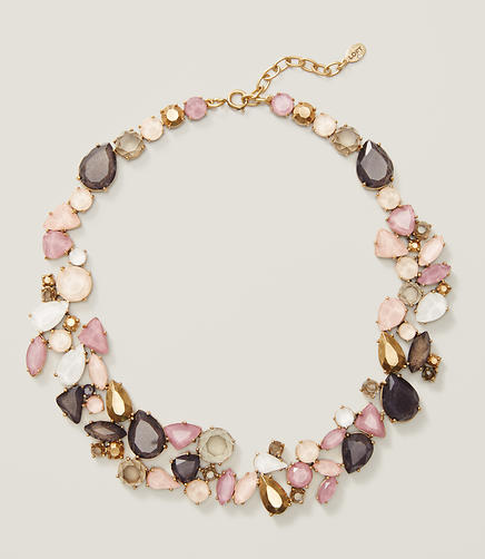 Image of Crystal Cluster Statement Necklace