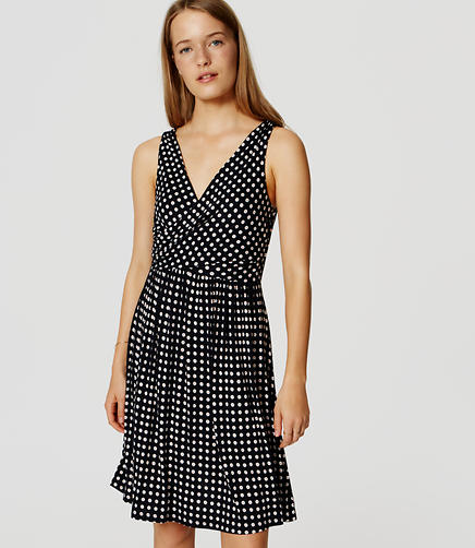 Image of Mosaic Double V Flare Dress