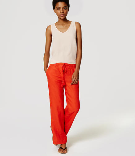 Image of Linen Drawstring Trousers