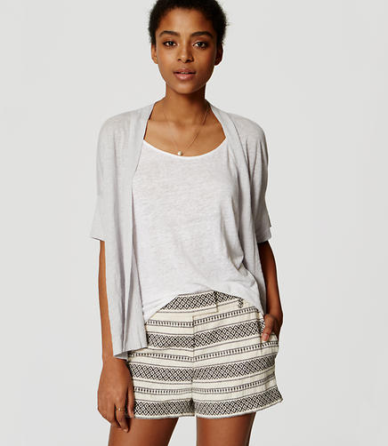 Image of Linen Short Sleeve Cardigan