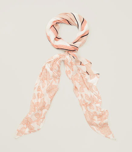 Image of Blush Floral Square Scarf