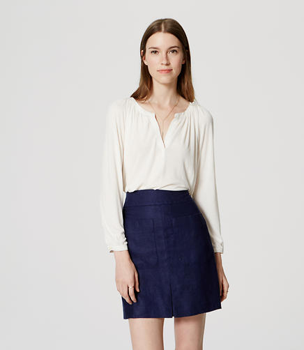 Image of Linen Pleated Pocket Skirt