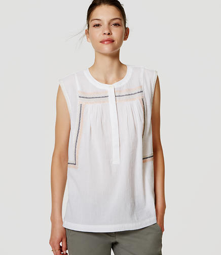 Image of Embroidered Sleeveless Shirt
