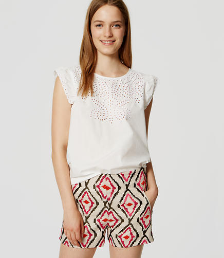 Image of Ikat Embroidered Riviera Shorts with 3 1/2