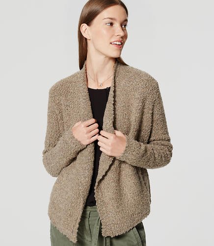 Image of Textured Open Cardigan