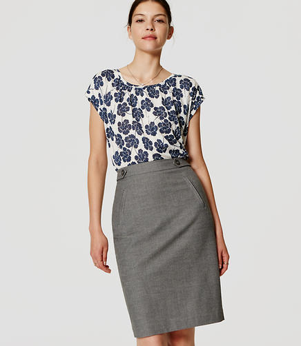Image of Curvy Fit Utility Custom Stretch Pencil Skirt