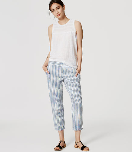 Image of Stripe Cropped Skinny Chinos in Marisa Fit