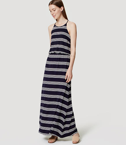 Image of Striped Racerback Maxi Dress