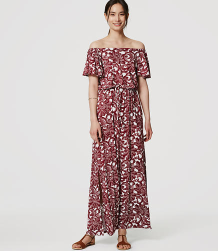 Image of Rosa Off the Shoulder Maxi Dress