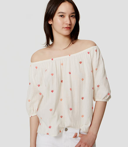 Image of Petite Off The Shoulder Top