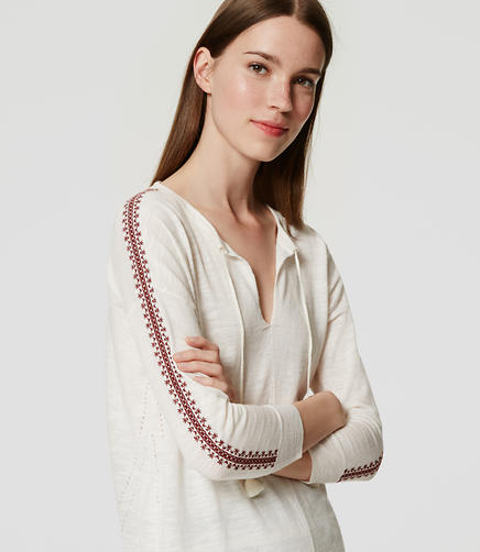 Image of Embroidered Tunic Sweater