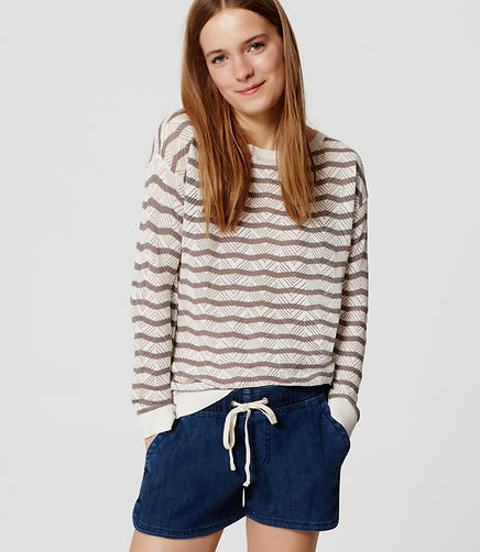 Image of Stripe Refined Chevron Sweater