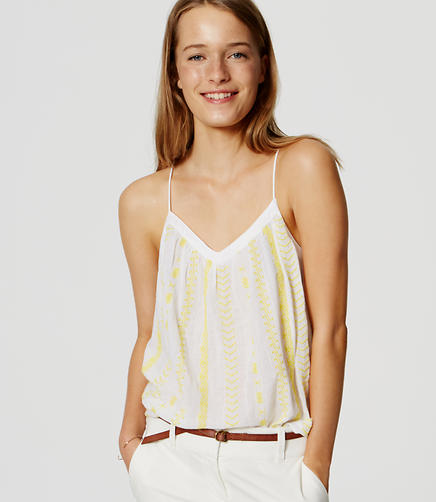 Image of Embroidered Strappy Cami