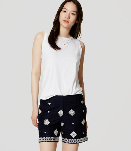 Image of Embroidered Riviera Shorts with 6