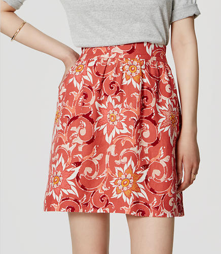 Image of Fiesta Floral Stroll Skirt