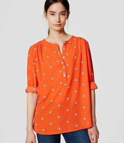 Image of Berry Shirred Utility Blouse