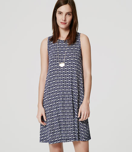 Image of Ikat Sleeveless Swing Dress