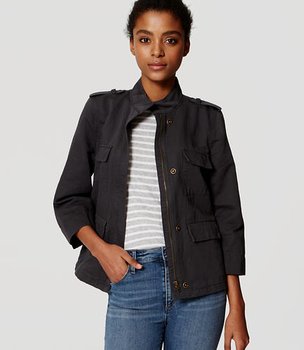 Image of Linen Cotton Cargo Jacket