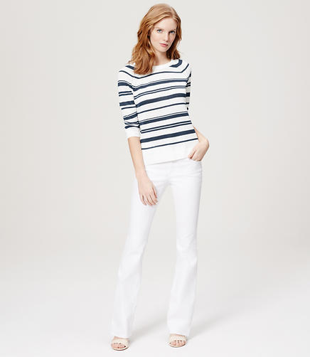 Image of Striped Linen Cotton Sweater