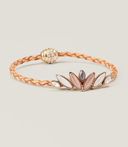 Image of Marquise Braided Leather Bracelet