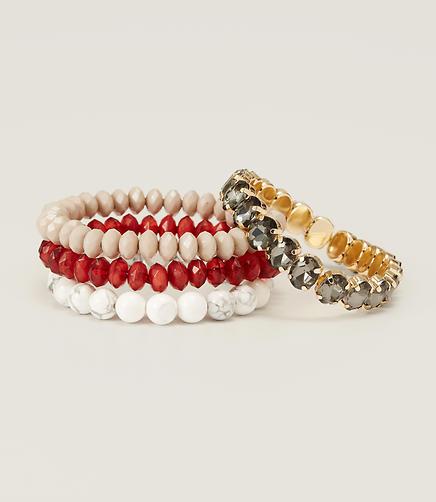 Image of Red Stretch Bracelet Set